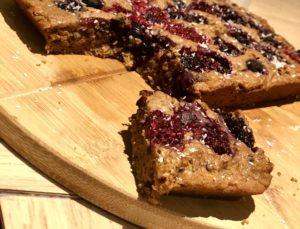 gâteau aux framboises à base de haricots blancs : encas sain